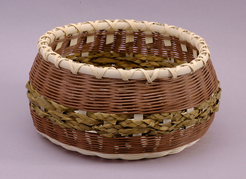 How To Weave A Cattail Basket : Jamit baskets large cattail round